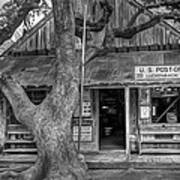 Luckenbach 2 Black And White Poster