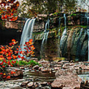 Ludlowville Falls Poster