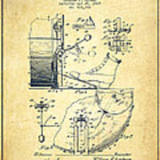 Ludwig Foot Pedal Patent Drawing From 1909 - Vintage Poster