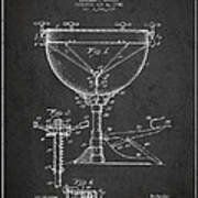 Ludwig Kettle Drum Drum Patent Drawing From 1941 - Dark Poster