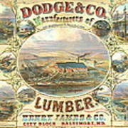 Lumber Company Ad 1880 Poster