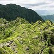 Lush Hawaiian Mountains Poster
