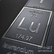 Lutetium Chemical Element Poster