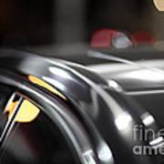 Luxury Black Car Blur Bokeh Poster