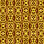 Luxury Red And Gold Christmas Kaleidoscope Poster