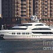 Luxury Yacht Visits Kaohsiung Port Poster