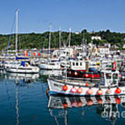 Lyme Regis Harbour On A July Morning Poster