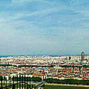 Lyon From The Basilique De Fourviere-color Poster