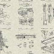 M-16 Military Rifle Patent Collection Poster
