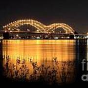The Hernando De Soto Bridge M Bridge Or Dolly Parton Bridge Memphis Tn  Poster
