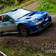 M. Cairns Driving Subaru Impreza Poster