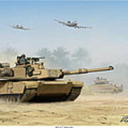 M1a2 Abrams Poster by Mark Karvon
