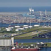Maasvlakte, Europort, Rotterdam Poster by Bram van de Biezen