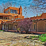 Mabel Dodge Luhan's Courtyard Poster