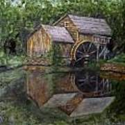 Mabry Mill Oil On Slate Poster