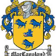 Maccausland Coat Of Arms Irish Poster