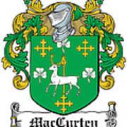 Maccurten Coat Of Arms Irish Poster