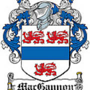 Macgannon Coat Of Arms Irish Poster
