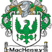 Machenry Coat Of Arms Ulster Ireland Poster
