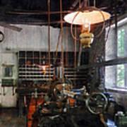 Machine Shop With Lantern Poster