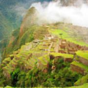 Machu Picchu Textured 2 Poster