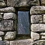 Machu Picchu Window Poster