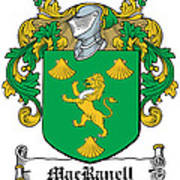 Macranell Coat Of Arms Leitrim Ireland Poster