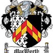 Macworth Coat Of Arms Irish Poster