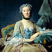 Madame De Sorquainville, 1749 Oil On Canvas Poster