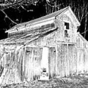 Madeline S Barn - Black And White Poster