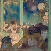 Mademoiselle Becat At The Cafe Des Ambassadeurs Poster