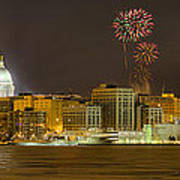Madison Skyline New Years Eve Poster