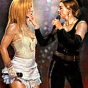 Madonna And Britney Spears  Poster