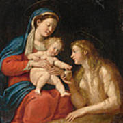 Madonna And Child With Mary Magdalene  Poster