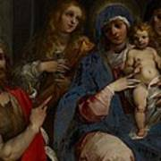 Madonna And Child With Saints John The Baptist With Mary Magdalene And Anne Poster