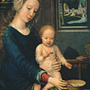 Madonna And Child With The Milk Soup Poster