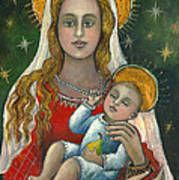 Madonna With Baby Jesus Poster
