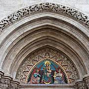Madonna With Child On Matthias Church Tympanum Poster