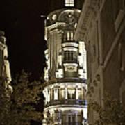 Madrid At Night Poster