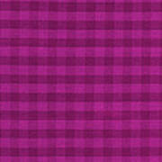 Magenta Checkered Pattern Cloth Background Poster