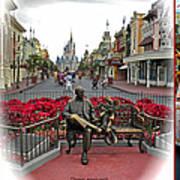 Magic Kingdom Walt Disney World 3 Panel Composite Poster