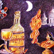 Magic Lamp Wine Poster