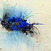 Magical Blue-abstract Art Poster by Ismeta Gruenwald