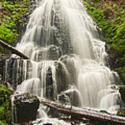 Magical Falls - Fairy Falls In The Columbia River Gorge Area Of Oregon Poster