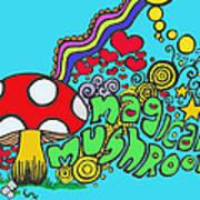 Magical Mushroom Pop Art Poster