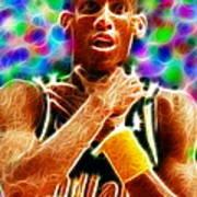 Magical Reggie Miller Choke Poster by Paul Van Scott