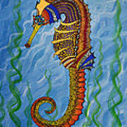 Magical Seahorse Poster