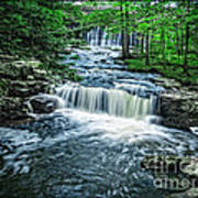 Magical Waterfall Stream Poster