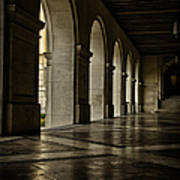 Main Building Arches University Of Texas Poster