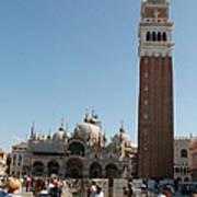 Main Square In Venice Poster